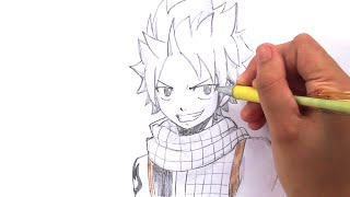 Видео: как нарисовать Нацу карандашом