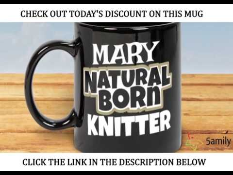 Custom Knitting Coffee Mug Personalised With Name | Gifts For Knitters