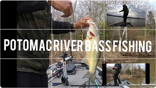 5. Tracker Pro 160 Maiden Voyage Potomac River!! BASS Fishing!!  2019 First trip out on my Boat!