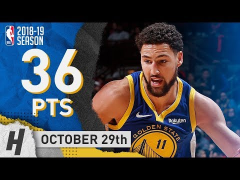 Klay Thompson Full Highlights Warriors vs Bulls 2018.10.29 - 36 Pts in First Half, TOO EASY!!