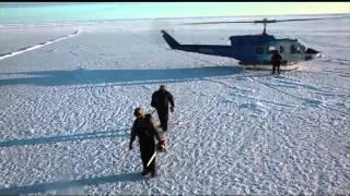 Submarine Punches Through Arctic Ice