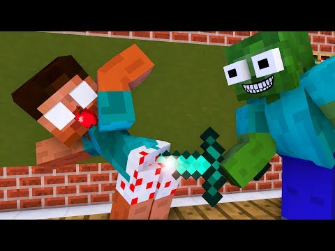 Monster School : Robbery Villager  - Minecraft Animation