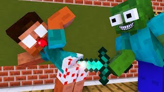 Video Monster School : Robbery Villager  - Minecraft Animation MP3, 3GP, MP4, WEBM, AVI, FLV Juni 2019