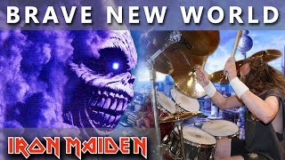 """I made the drum cover """"Brave new World"""" because this was the first Iron Maiden gig I attended during their tour in the year 2000.If you like me please subscribe and support ► http://bit.ly/MikiMaidenMIKI MAIDEN Equipment: ►Yamaha Drums: Yamaha Beech CustomTom Tom 12""""Tom Tom 13"""" Flor Tom 16""""Snare Drum - Spirit Of Maiden ( Limited Edition ) 14""""Bass Drum pedal - DW 9000Hi- Hat Stand - DW 5000►Remo Drumheads:Bass - Evans eq4 Snare - Front - Remo Cantrolled Sound CoatedSnare - Back - Remo Ambasador Hazy Snare SideTom-Tom & Flor Tom - Front  -  Remo Ambasador X CoatedTom-Tom & Flor Tom  -  Back - Remo Ambasador Ebony►Paiste Cymbals:Hi-Hat - Paiste Signature Reflector Heavy Full Hi-Hat 14""""Ride - Paiste Signature Reflector Bell Ride 22"""" ( Powerslave )Crash - Paiste Signature Reflector Heavy Full Crash 17""""Crash - Paiste Signature Reflector Heavy Full Crash 18""""Crash - Paiste Signature Reflector Heavy Full Crash 19""""Crash - Paiste Signature Reflector Heavy Full Crash 20""""Crash - Paiste Signature Reflector Full Crash 16""""Crash - Paiste RUDE Crash/Ride 17""""China - Paiste Signature Reflector Heavy China 18""""DynaVox custom drum sticks - Blaz McSatler►Sound Recording:Roland - R 26 (6 Channel Digital Field)Microphone - 2x Rode NT 5 - Cardioid Studio CondenserIpod nano (space gray)►Video Recording:1x GoPro Hero 5 Black2x GoPro Hero 4 BlackIron Maiden Drum Cover  Real Drum  Drum Pad  Drum Set  Nicko McBrain  Best Drum CoverSpecial thanks to Wind Orchestra Zelezarjev Ravne for help and support►http://bit.ly/zelezarjiPeace out ☮"""