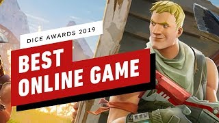 Fortnite Wins Best Online Game of the Year - DICE Awards 2019 by IGN
