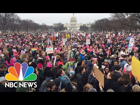 Bird's Eye-View of Women's Marches Across the Country | NBC News