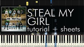 "How to Play ""Steal My Girl"" by One Direction - Piano Cover - Tutorial - Sheets"