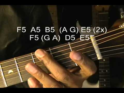 "One Direction One Way Or Another"" Blondie Guitar Lesson / Cover NO CAPO Instruction"