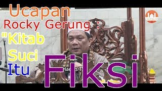 "Video Ucapan Rocky Gerung : ""Kitab Suci Itu Fiksi"" ? -  DR. Yahya Waloni (Mantan Pendeta) MP3, 3GP, MP4, WEBM, AVI, FLV Februari 2019"