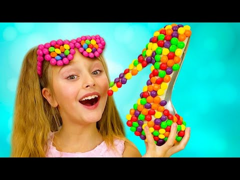 Sasha y Dima y una nueva historia para niños sobre dulces y zapatos de dulces
