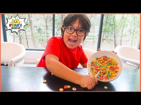 Mommy surprise Ryan with Frozen Cereal for Breakfast!!!