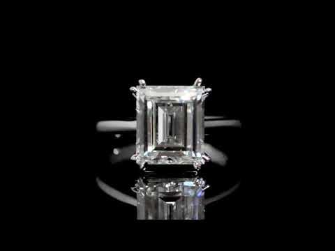 GIA Certified 4.50ct Emerald Cut Diamond Ring