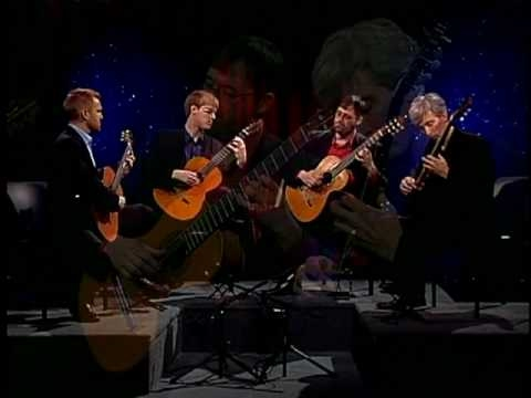 guitarquartet - by Astor Piazzolla - arranged by the Minneapolis Guitar Quartet - performance for Baby Blue Arts of Minnesota www.minneapolisguitarquartet.com.