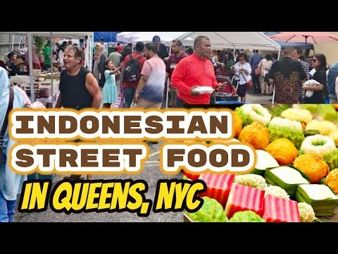 Indonesian Food Fair In Astoria, New York City, Celebrating Summer
