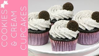 🎀RECIPE: http://www.lindsayannbakes.com/2013/01/cookies-cream-cupcakes-small-batch.html🎀ALL-NEW VIDEOS: http://bit.ly/LindsayAnnBakesYouTube♡Everyone's favorite cookie, in cupcake form! These cupcakes are the perfect combo of dark chocolate cake and Oreo creme filling on top. These cupcakes are ultra dark, moist and fudgy and pair perfectly with the cookies and cream frosting that tastes just like the filling of an Oreo.♡Have a video request that you would like to see? Let me know! Connect with me @LindsayAnnBakes to say hi & tag YOUR creations with #LindsayAnnBakes 🎀 FACEBOOK - lets be friends!http://www.facebook.com/LindsayAnnBakes🎀 INSTAGRAM - more behind the scenes!http://instagram.com/LindsayAnnBakes🎀 TWITTER - come tweet with me!http://twitter.com/LindsayAnnBakes🎀 PINTEREST - sweet inspiration!http://pinterest.com/LindsayAnnBakes🎀 BLOG - check out more of my recipes!http://www.LindsayAnnBakes.com🎀 FOLLOW ALONG - subscribe to get recipes in your email!http://bit.ly/LindsayAnnBakesEmailRecipes🎀 EMAIL - drop me a line!LindsayAnn@LindsayAnnBakes.com