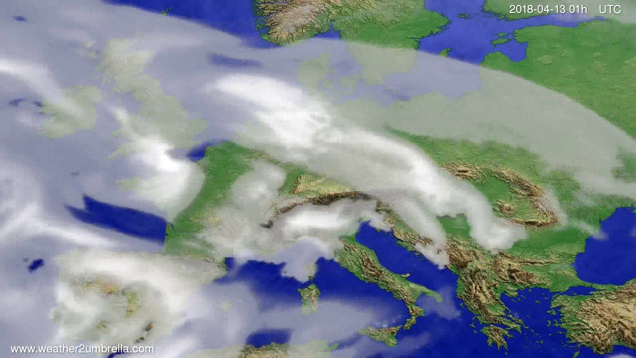 Cloud forecast Europe 2018-04-10