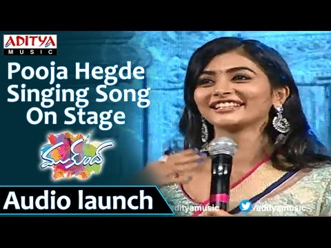 Pooja Hegde Singing Song On Stage At Mukunda Audio Launch - Varun Tej, Pooja Hegde