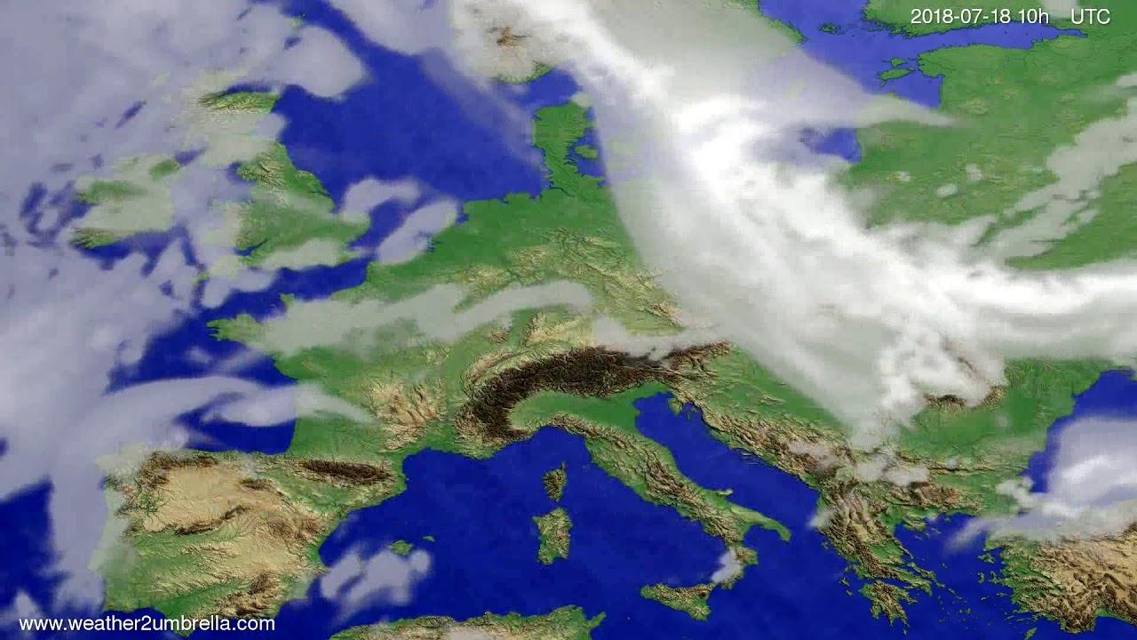 Cloud forecast Europe 2018-07-16