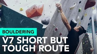 Bouldering V7: Projecting a short but tough route at Cliffs of ID by  rockentry