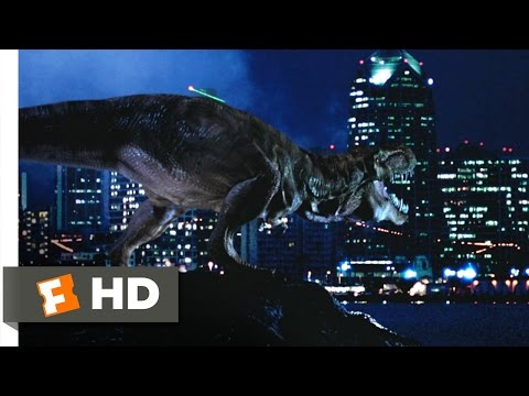 The Lost World: Jurassic Park (7/10) Movie CLIP - The T-Rex Takes San Diego (1997) HD (видео)