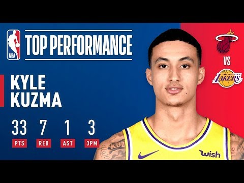 Video: Kyle Kuzma Helps Lift the Lakers Over the Heat at Staples Center! | December 10, 2018