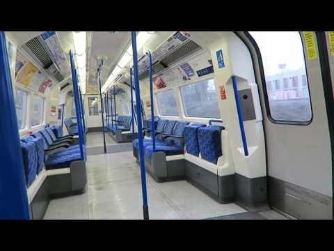 London Underground Northern Line Ride: Burnt Oak to Edgware 26 January 2017 (видео)