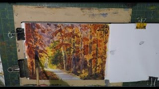 Sketch Book Watercolour Autumn trees