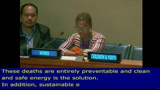 Nozipho Wright's review on SDG 7, Energy at the HLPF 2018: UN Web TV