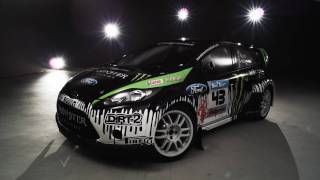 Ken Block 's Ford Fiesta under the spotlight and the Monster World Rally Team 2010 Schedule