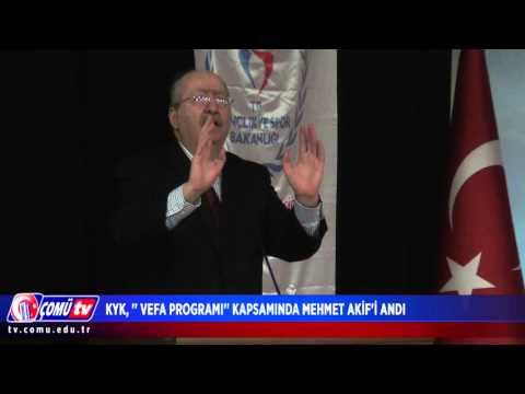 """KYK, """"Vefa Programı"""" Kapsamında Mehmet Akif'i Andı"""
