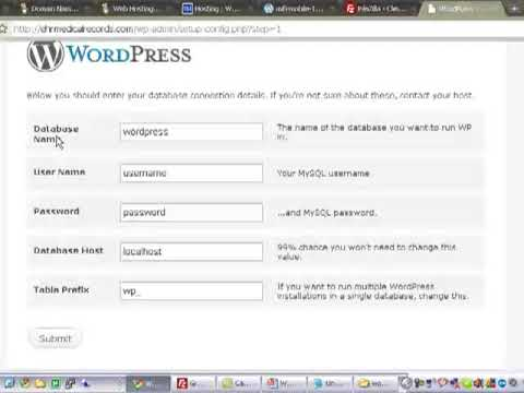Installing WordPress for dummies using the latest version 2.8.5