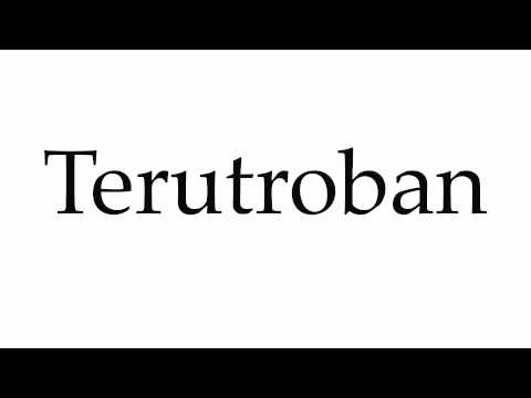 How to Pronounce Terutroban
