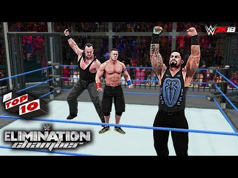 WWE 2K18 Elimination Chamber 2018 Top 10 Predictions!