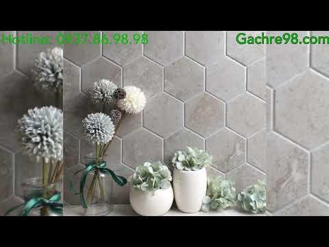 Gạch trang trí mosaic lục giác ốp tường|Gạch mosaic giá rẻ tphcm