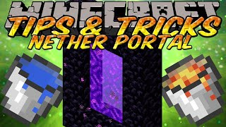 Minecraft Tips and Tricks - How to make a Nether Portal with Lava and Water Efficiently