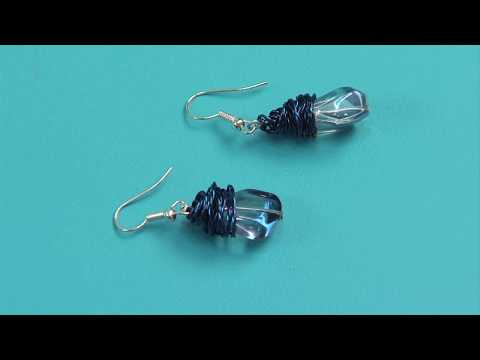 Easy Wire Wrapped Earrings With The Twist & Style Tool | Sizzix Jewelry