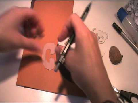 Baeren aus Tonpapier basteln