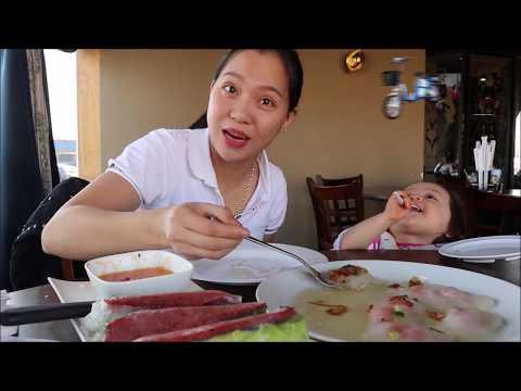 Vlog 574 ll Cùng Con Gái Yêu Ăn Nem Nướng+ Bánh Bột Lọc Ở Mỹ Ngon K? - Thời lượng: 22 phút.