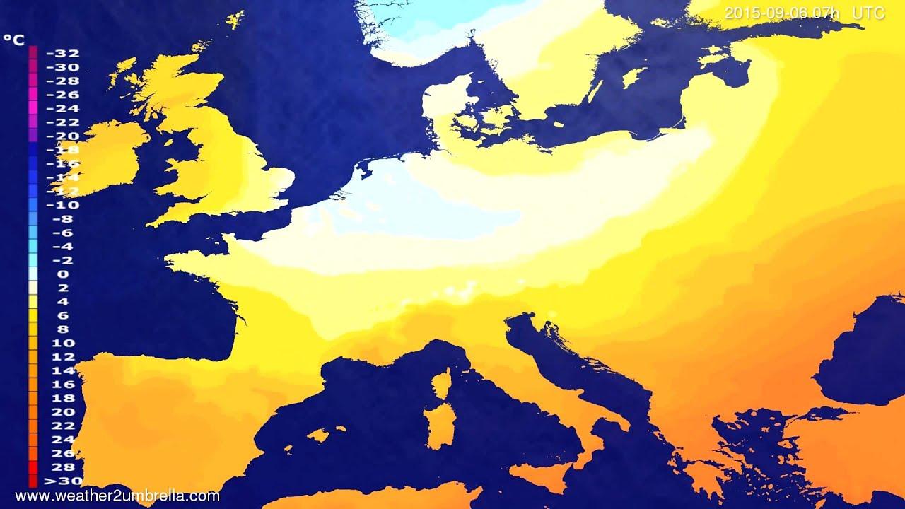 Temperature forecast Europe 2015-09-03