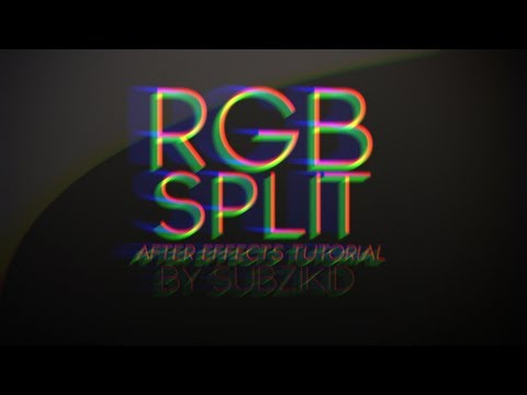 RGB Split Transition Tutorial | After Effects
