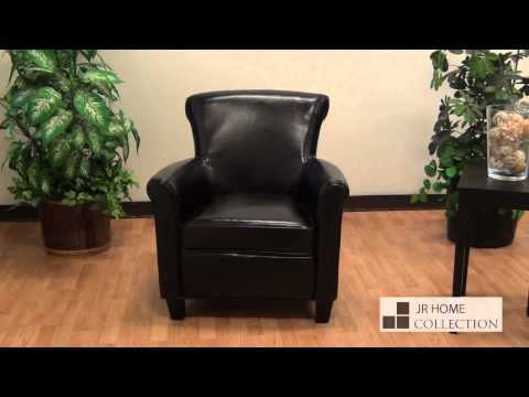 Tyson Bonded leather club chair