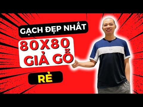 Gạch lát sàn vân gỗ 80x80 cao cấp|Gạch giả gỗ 80x80 giá rẻ.