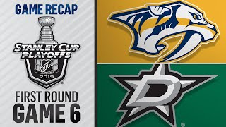 Stars win Game 6 in OT to advance by NHL