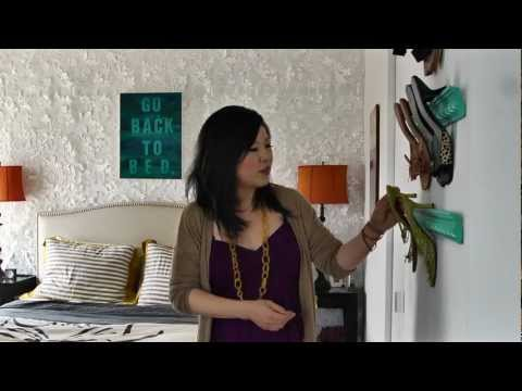 design - Janet Lee turns all her small NYC rental apartments into tiny, eclectic, amazing, spaces with her unique sense of design and style. Also, Janet literally wro...