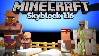 Villager Breeding & 1.16.2 Iron Farm! • Minecraft 1.16 Skyblock (Tutorial Let's Play) [Part 9]