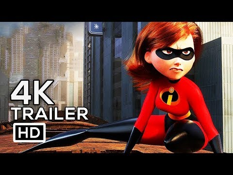 INCREDIBLES 2 Official Trailer 4K ULTRA HD (2018) Disney Animated Superhero Movie