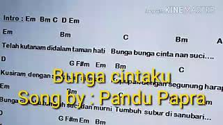 Bunga cintaku song by : Pandu Papra