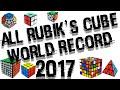ALL RUBIK'S CUBE WORLD RECORD 2017