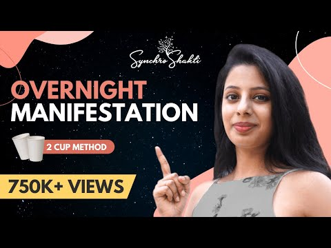 Shocking Overnight Law Of Attraction Manifestation Technique - The Two Cup Method (powerful)