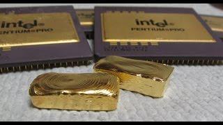 Gold Recovery With Bleach Computer Scrap Pentium Pro CPU